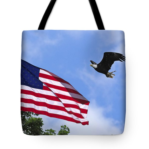 Tote Bag featuring the photograph Freedom Feeds The Family by Randall Branham