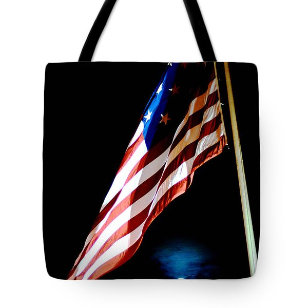 Flag On Federal Hill Tote Bag
