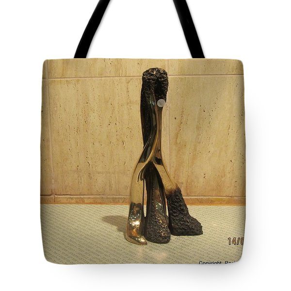 Freestanding Legwork Bronze Sculpture With Brass And Opaque Surfaces  Tote Bag by Rachel Hershkovitz