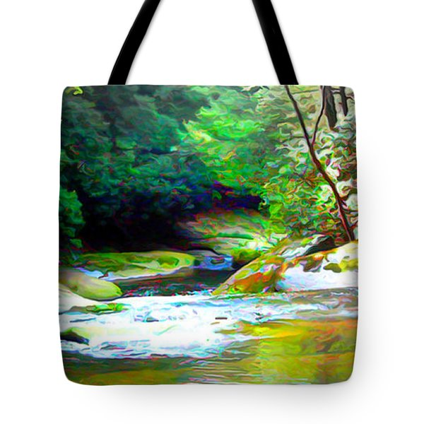 French Broad River Filtered Tote Bag