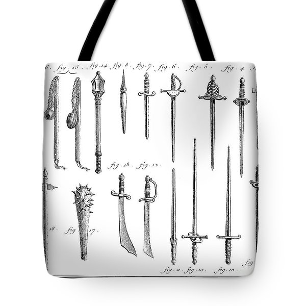 French Chivalric Weapons Tote Bag by Granger