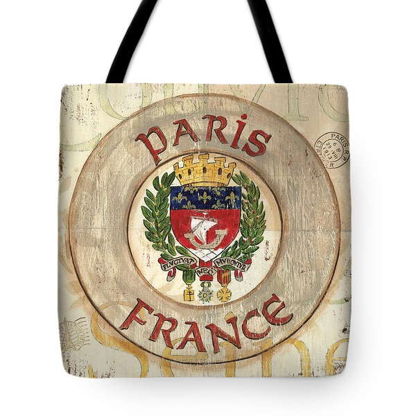 French Coat Of Arms Tote Bag by Debbie DeWitt