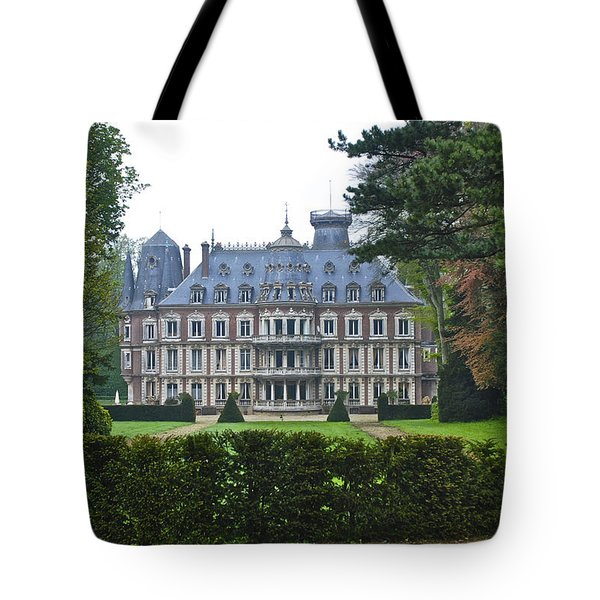 French Country Mansion Tote Bag
