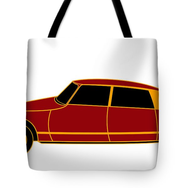 French Iconic Car - Virtual Car Tote Bag by Asbjorn Lonvig