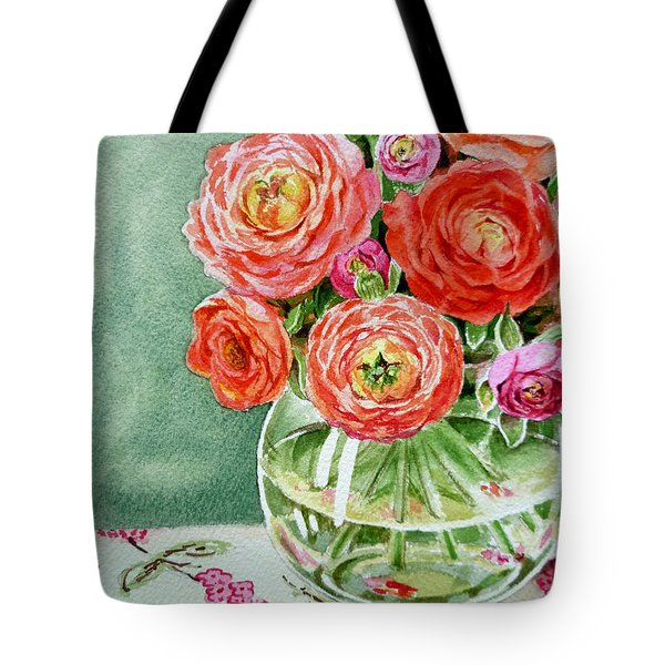 Fresh Cut Flowers Tote Bag by Irina Sztukowski