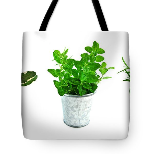 Fresh Herbs Tote Bag by Elena Elisseeva