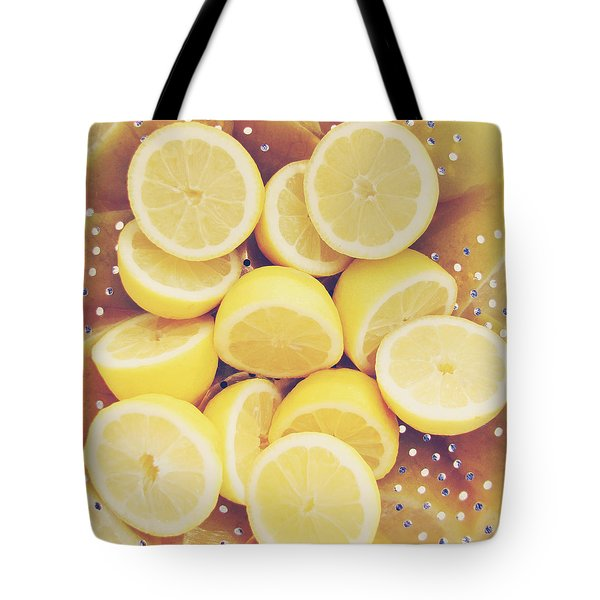 Fresh Lemons Tote Bag by Amy Tyler