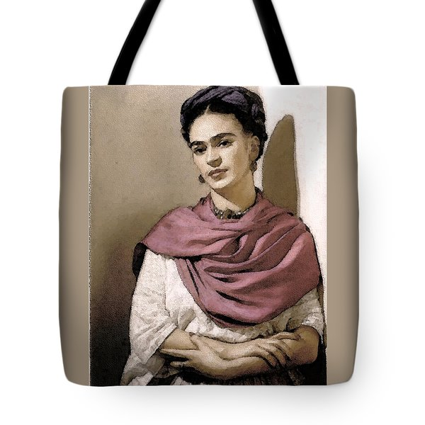 Frida Interpreted 2 Tote Bag by Lenore Senior