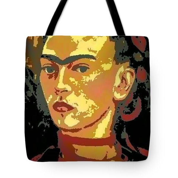 Frida Kahlo - Courage Personified Tote Bag by Angela L Walker