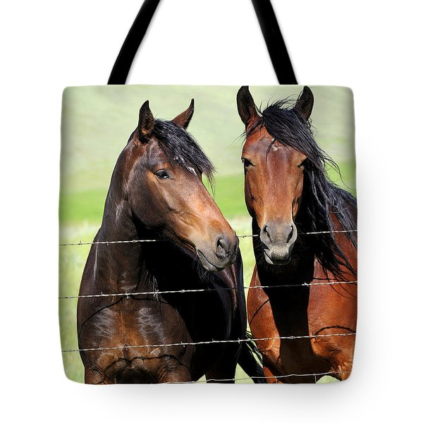 Tote Bag featuring the photograph Friends by Fran Riley