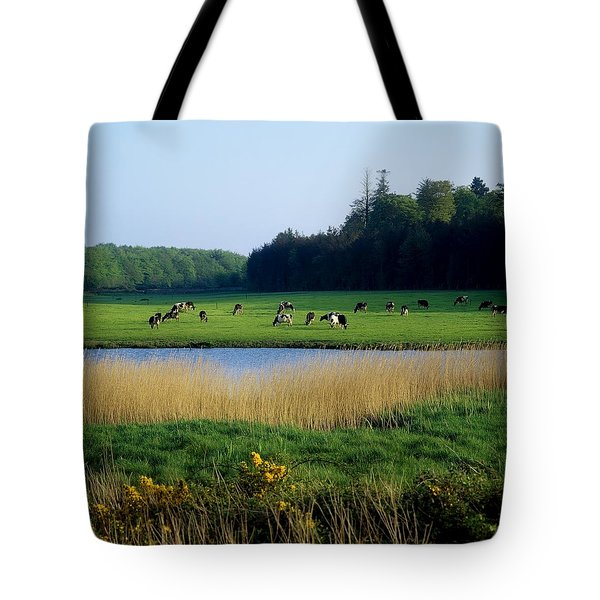Friesian Cattle, Near Cobh, Co Cork Tote Bag by The Irish Image Collection
