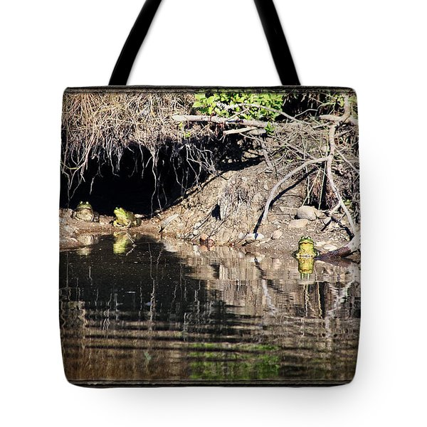 Frog King's Court Tote Bag