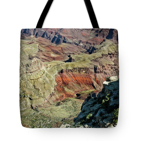 Tote Bag featuring the painting From Yaki Point 6 Grand Canyon by Bob and Nadine Johnston