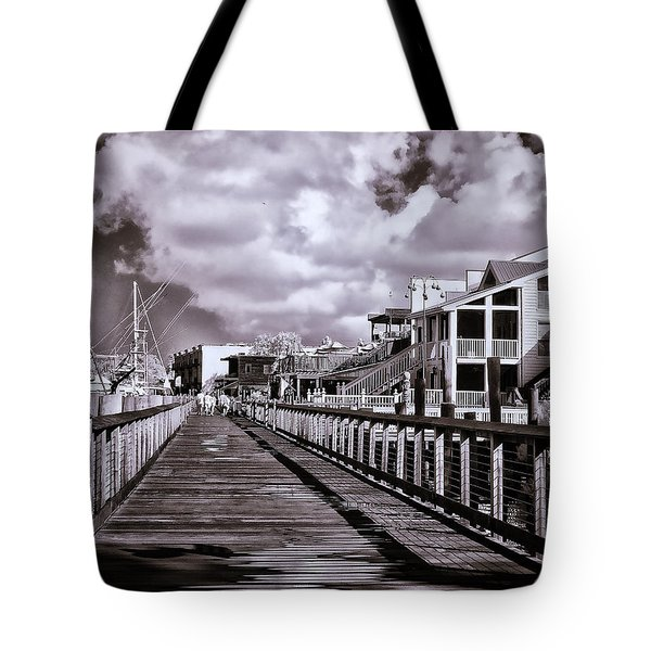 Front Street Boardwalk - Infrared Tote Bag