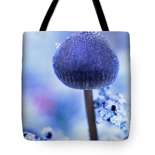 Frost Covered Mushroom, North Canol Tote Bag by Robert Postma