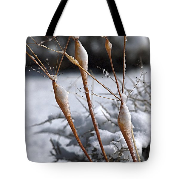 Frosted Trumpets Tote Bag by Joe Schofield
