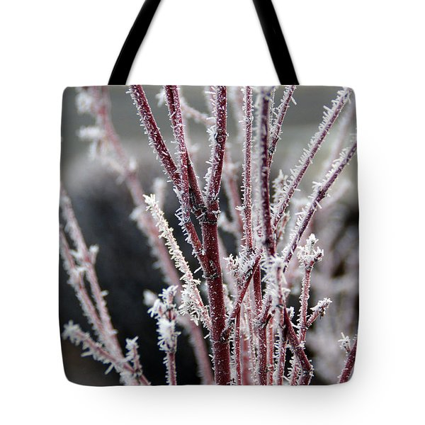 Frosty Coral Maple Tote Bag by Mick Anderson