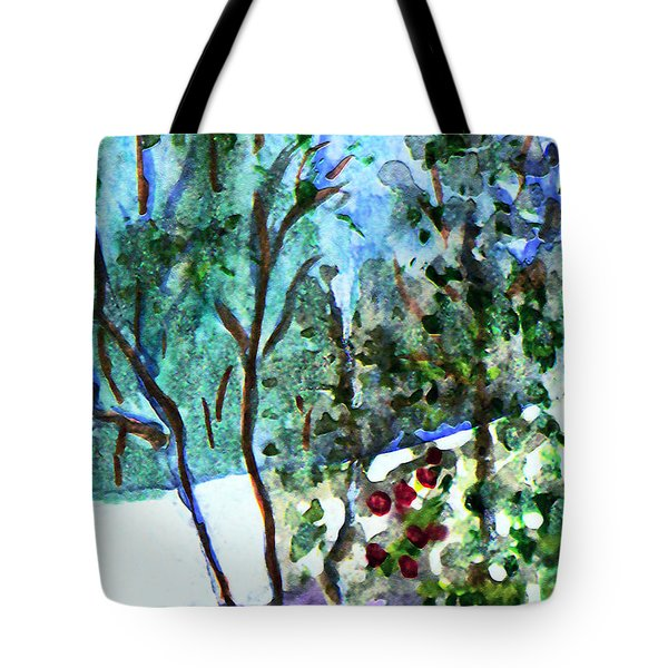 Tote Bag featuring the painting Frosty Morning by Paula Ayers