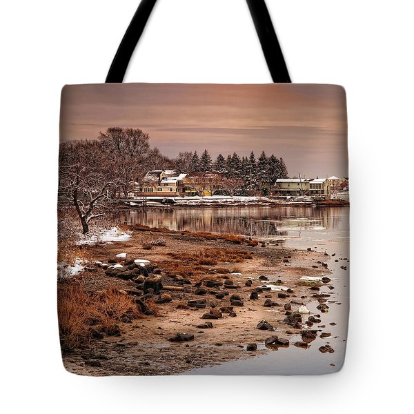 Frosty Sunset Tote Bag