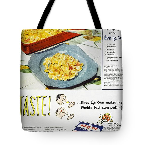 Frozen Food Ad, 1947 Tote Bag by Granger