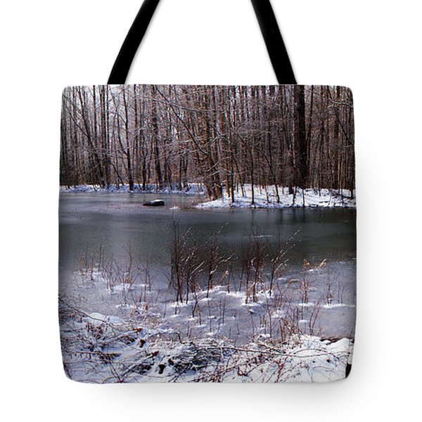 Tote Bag featuring the photograph Frozen Head Pond by Paul Mashburn