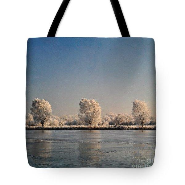Frozen Lake Tote Bag by Lyn Randle