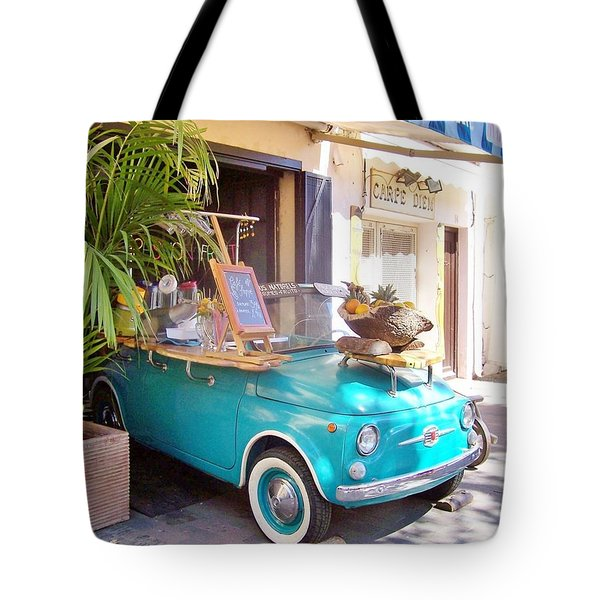 Fruit Stand In Collioure France Tote Bag by Marilyn Dunlap