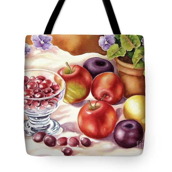 Fruits And Berries Tote Bag by Inese Poga