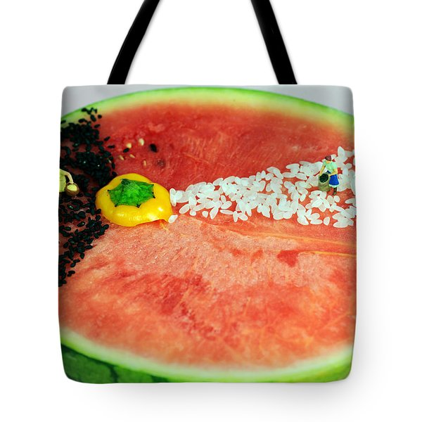 Fruits Depicting Kepler's Law Tote Bag by Paul Ge