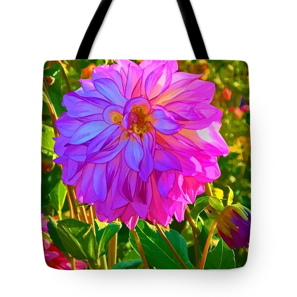 Fuchsia Delight Tote Bag by Ken Stanback