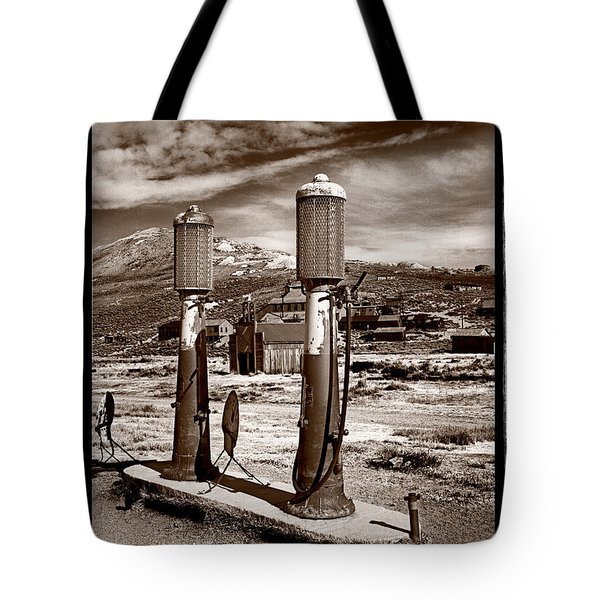 Fuel Pumps And Firehouse In Bodie Tote Bag