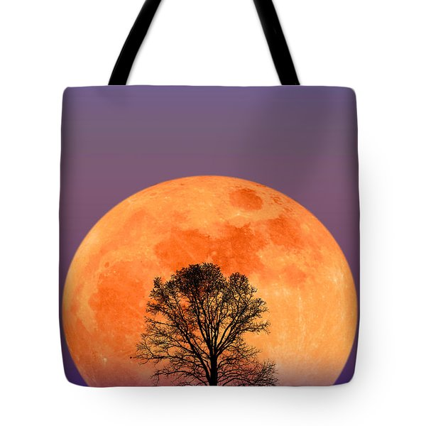 Full Moon Tote Bag by Larry Landolfi and Photo Researchers