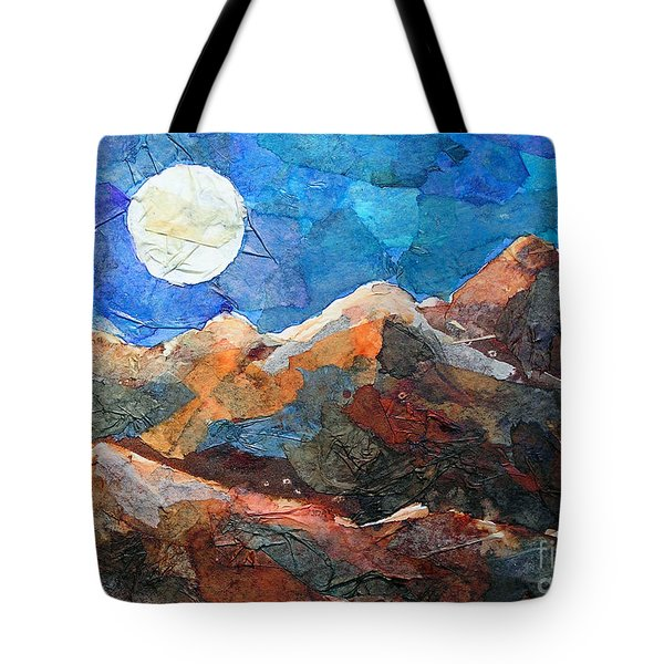 Full Moon Over The Sierras Tote Bag by Li Newton