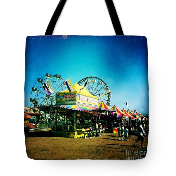 Tote Bag featuring the photograph Fun At The Fair by Nina Prommer