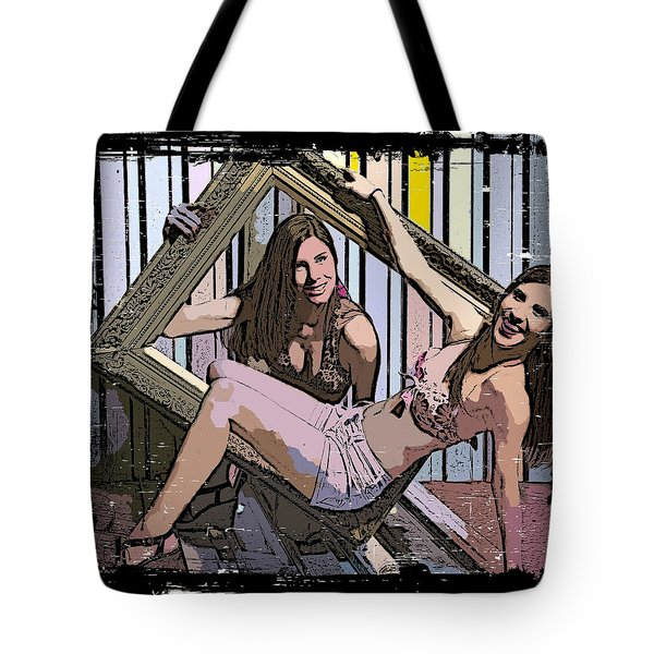 Tote Bag featuring the photograph Fun In A Frame by Alice Gipson