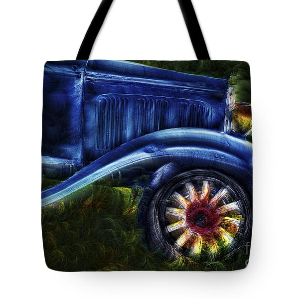 Funky Old Car Tote Bag by Susan Candelario