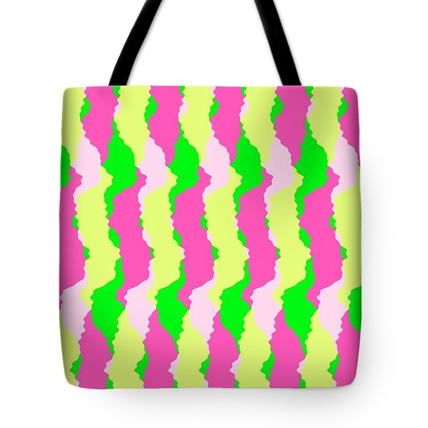 Funky Stripes Tote Bag by Louisa Knight
