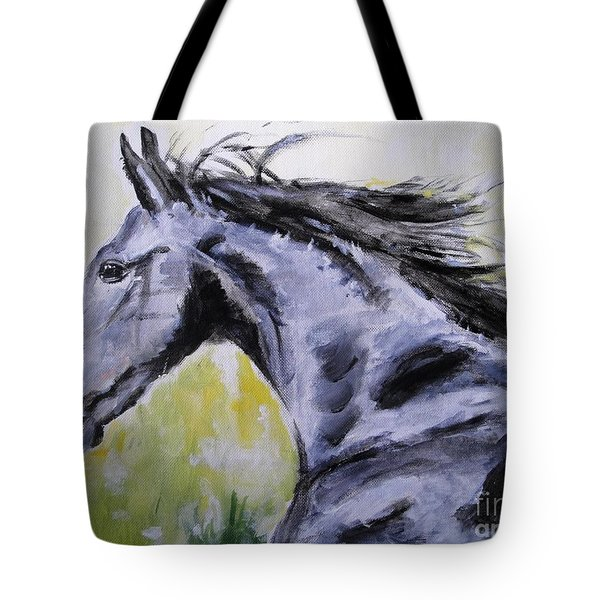 Tote Bag featuring the painting Fury by Judy Kay