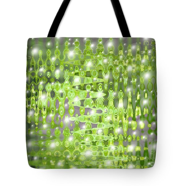 Future Forest Abstract Tote Bag by Carol Groenen