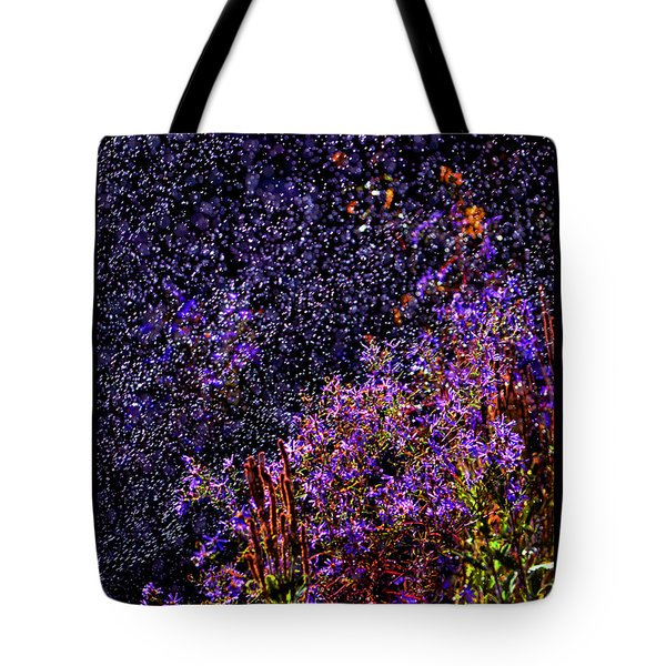 Tote Bag featuring the photograph Galactic Gardens by Susanne Still