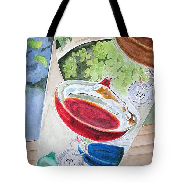 Tote Bag featuring the painting Galileo Thermometer by Mary Kay Holladay
