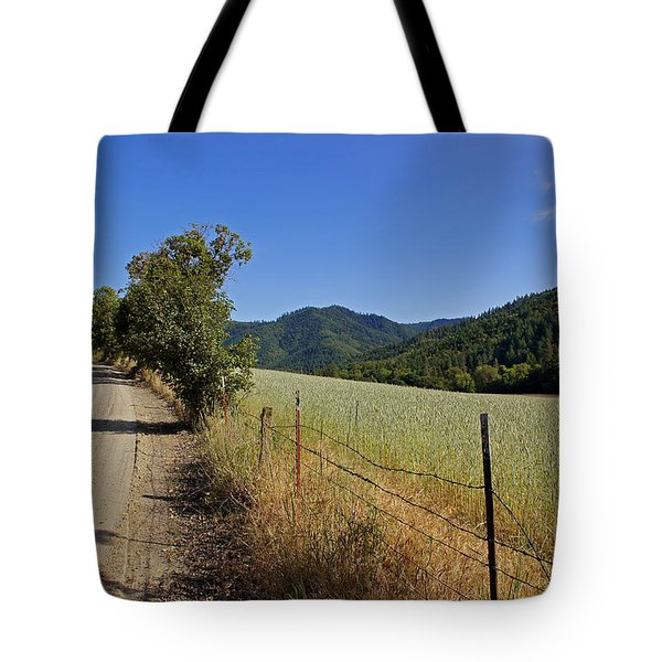 Galls Creek Road In Southern Oregon Tote Bag by Mick Anderson