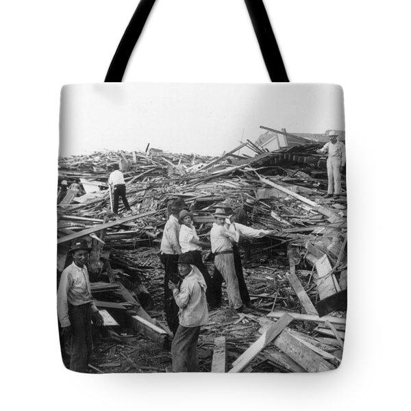 Galveston Disaster - C 1900 Tote Bag by International  Images