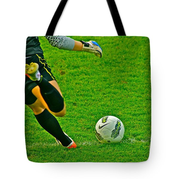Game Ball Tote Bag by Laddie Halupa