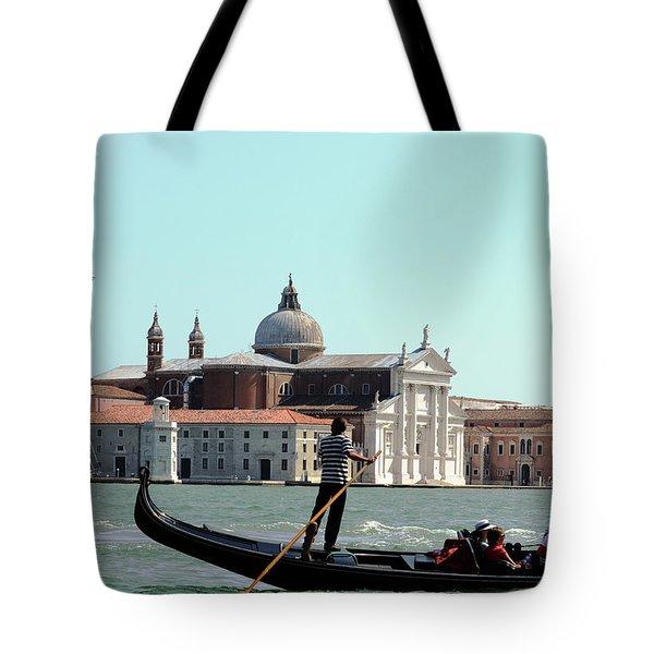 Gandola Rides In Venice Tote Bag