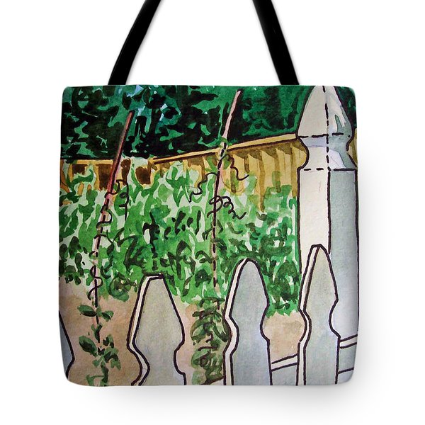 Garden Fence Sketchbook Project Down My Street Tote Bag by Irina Sztukowski
