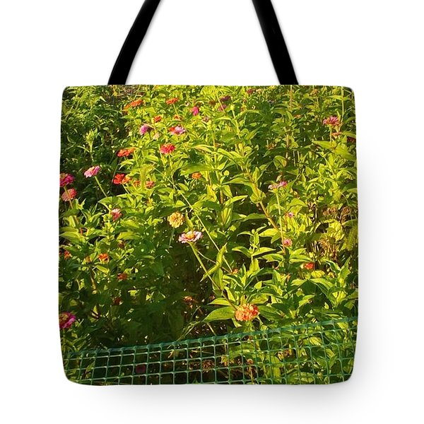 Garden Flowers Mixed Colors Tote Bag by Thelma Harcum