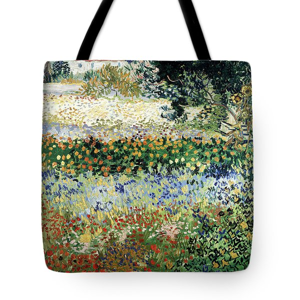 Garden In Bloom Tote Bag by Vincent Van Gogh