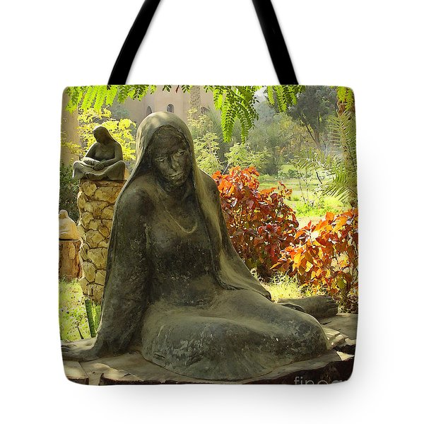 Garden Of Statues Egypt Tote Bag by Mary Machare
