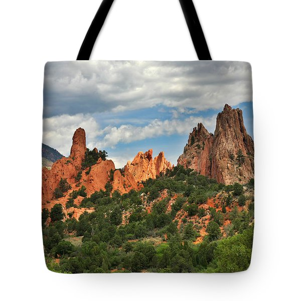 Garden Of The Gods - Colorado Springs Co Tote Bag by Christine Till